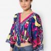 เสื้อเบลาส์ Kimono Sleeved Wrap Up