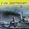 DRA1064 GERMAN Z-26 DESTROYER 1/350