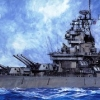 TA78029 US Battleship BB-63 Missouri - Circa 1991 1/350