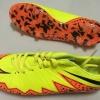 รองเท้าฟุตบอล Nike Hypervenom สีเขียว/ส้ม