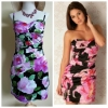 Lipsy Floral Bandeau Dress Size uk10