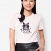 เสื้อยืด Printed Patch High Cat