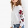 เสื้อเชิ้ต White Rose Embroidered