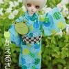 YOSD Yukata Set - Kaeru Light Blue