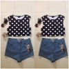 Topshop dots crop top Size uk10
