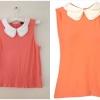 เสื้อ topshop สีส้ม พร้อมส่ง uk 10