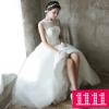 (Pre-Order) ชุดแต่งงาน <แขนกุด> รหัสสินค้า WDL0434