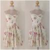 Miss selffridge Ladies cream Floral Dress Size uk10
