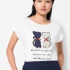 เสื้อยืด Patched Embroidered Lover Cats