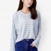 เสื้อเบลาส์ Striped Knitted Loose