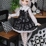 [PRE-ORDER] Mini Scholar Dress Black