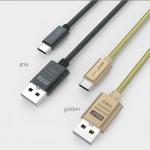 สายชาร์จแบบสปริงเหล็ก Type C สำหรับมือถือสมาร์ทโฟนทั่วไป ยี่ห้อ GOLF