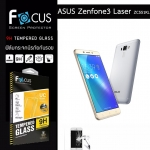 "Focus ฟิล์มกระจกนิรภัย Asus Zenfone3 Laser 5.5""(ZC551KL) กันรอยนิ้วมือติดเองได้ง่ายๆ"