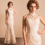 (เช่าชุดราตรี) ชุดแต่งงาน <สีขาว> รหัสสินค้า EK_WDL0756