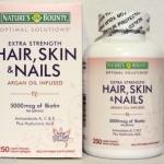 Hair, Skin and Nails by Nature's Bounty เนเจอร์ เบาวน์ตี้ วิตามินบำรุงผมดกหนา ผิวกระจ่างใส เล็บสวย