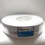 สายRG6 Hisattel ชีลด์90% สีขาว100ม.