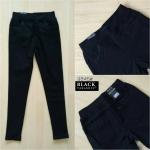 กางเกงสกินนี่เอวสูง BLACK TARAMIZU สีดำ #9845-01
