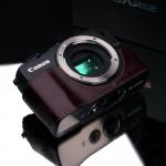 Gariz Leather Half-case for Canon EOS-M : Brown