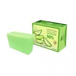 Super Wink Smoothing & Moisture Aloe Vera Soap 99% 80 g. สบู่ว่านหางจระเข้เข้มข้น