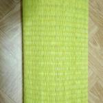 เสื่อกกทอมือ ถวายวัด เหลืองล้วน เส้นละเอียด ขนาดกว้าง 100cm. x ยาว 10m.