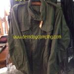 เสื้อแจ็กเก็ตฟิล์ดของนอกแท้ สีเขียว