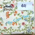 napkin ลายดอกไม้ (รหัสสินค้า NA-401)