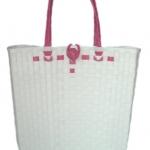 กระเป๋า ก้นเหลี่ยม หูสีชมพูบานเย็น (AU-F5)ขนาดโดยประมาณ กว้าง 10 cm.ยาว 35 cm.สูง 34 cm.
