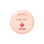 Skinfood Peach Cotton Pore Pact 9 g. แป้งอัดแข็งไม่ผสมรองพื้น คุมมัน