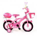 จักรยานเด็กขนาด 12 นิ้วสีชมพู ...ฟรีค่าจัดส่ง