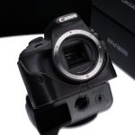 Gariz Leather Half-case for Canon EOS 100D: Black