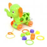 ช้างน้อยบล็อกหยอด...สีเขียว... ฟรีค่าจัดส่ง