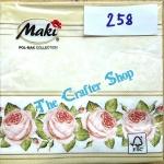 napkin ลายดอกกุหลาบ (รหัสสินค้า NA-258)