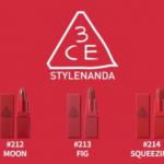 3CE Red Recipe Lip คอลเลคชั่นใหม่ ลิปสติก โทนสีแดง
