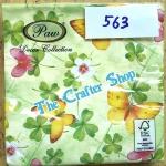 napkin ลายใบไม้กับผีเสื้อ (รหัสสินค้า NA-563)