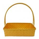 กระเช้าเปล่า ราคาถูก ขายส่ง กระเช้าของขวัญหูบน สีทอง ขนาด 13 นิ้ว (KSG-gold)