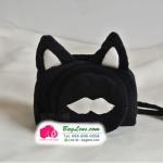 เคสกล้องแบบถุงผ้า Black Cat