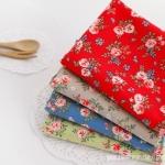 ผ้าคอตต้อนเกาหลีจัดเซต baby rose four kinds ขนาด 27.5x45cm จำนวน 4 ชิ้น
