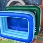 สระน้ำเป่าลม 3 ชั้น ขนาด 1.60x1.20x0.55 สีฟ้า แถมบอล 10 ลูกพร้อมสูบไฟฟ้า