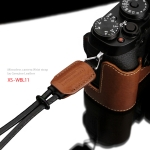 Gariz Leather Wrist Strap : XS-WBL11 (Camel)