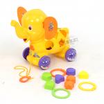 ช้างน้อยบล็อกหยอด...สีเหลือง... ฟรีค่าจัดส่ง