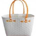 กระเป๋าเล็ก สีขาว  หูสีส้ม (ATS-F2)