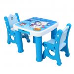 ชุดโต๊ะเขียนหนังสือเอนกประสงค์ 2 ที่นั่งสีฟ้า