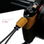 Gariz Leather Wrist Strap : XS-WBL2 (Dark Yellow)