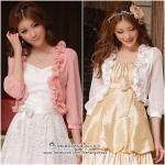 Preorder เสื้อคุลมไซส์ใหญ่ สีชมพู ขาว XL-3XL