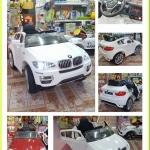 รถแบตเตอรี่ รุ่น BMW X6 #ลิขสิทธิ์แท้ สีขาว