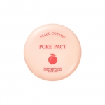 (Pre-Order) Skinfood Peach Cotton Pore Pact 9 g. แป้งอัดแข็งไม่ผสมรองพื้น คุมมัน