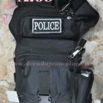 กระเป๋าปืน มีโลโก้ปัก POLICE . สีดำ