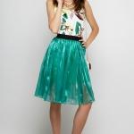Green Shining Skirt