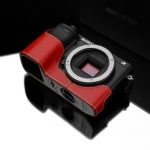 Gariz Leather Half-case for Sony A6000 -Red