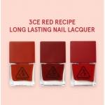 3CE Red Recipe Long Lasting Nail Lacquer ยาทาเล็บ โทนสีแดง ดูแพงสุดๆ